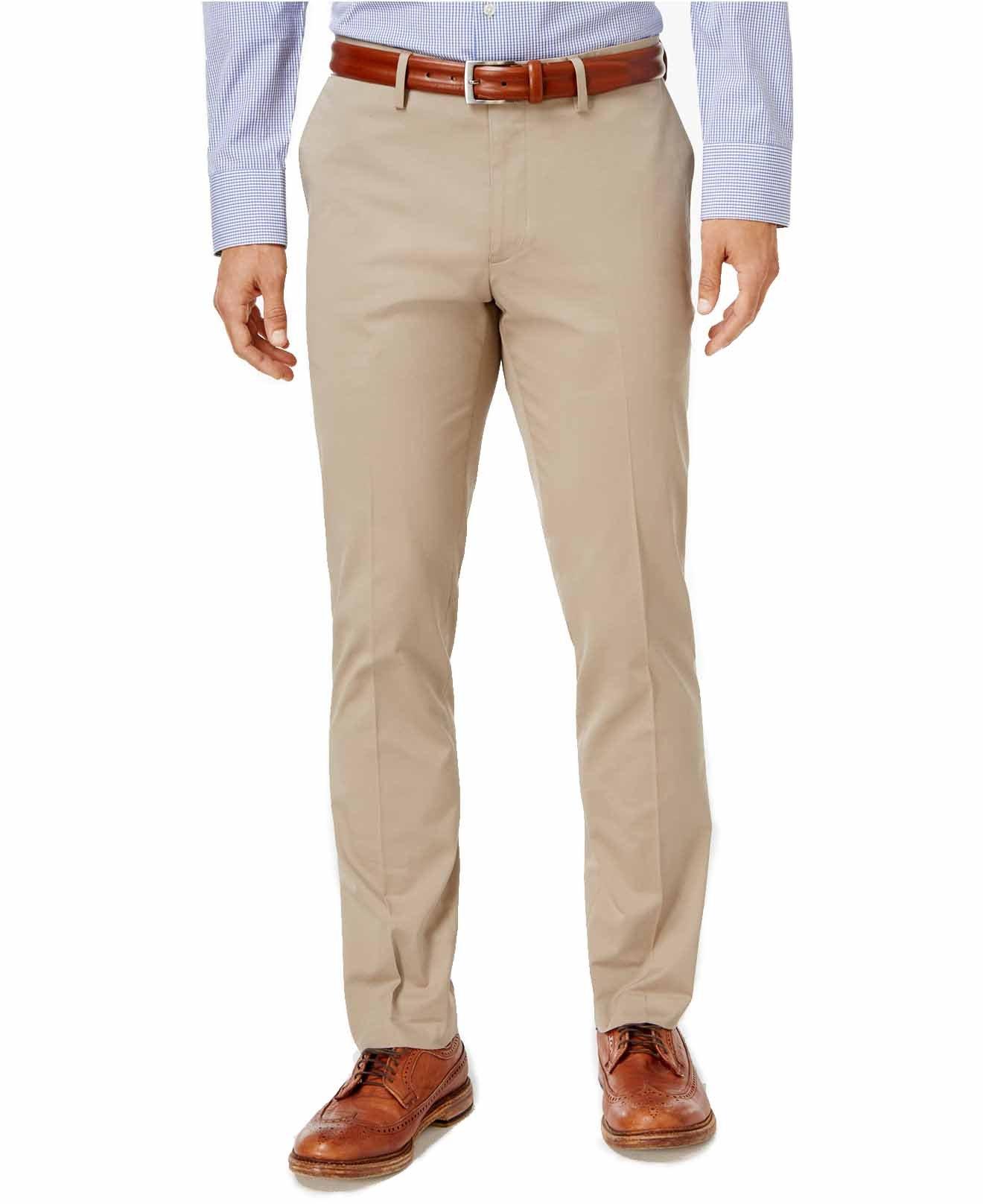 Michael Kors Men's Slim-Fit Stretch Chino Pants (Khaki, 32W x 32L)