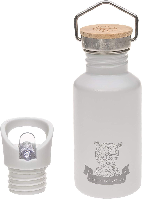 Lässig 1210026200 - Botella acero inoxidable adventure gris, unisex