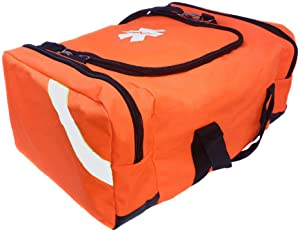 ASATechmed First Aid Large EMT First Responder Trauma Bag for Home, Office, School, Emts, Paramedics, First Responders + More (Orange)
