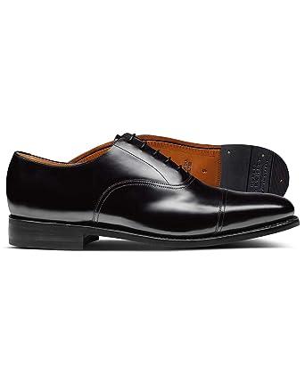 sports shoes ad4de 687e3 Rahmengenähte Oxford-Schuhe mit Ledersohle in Schwarz