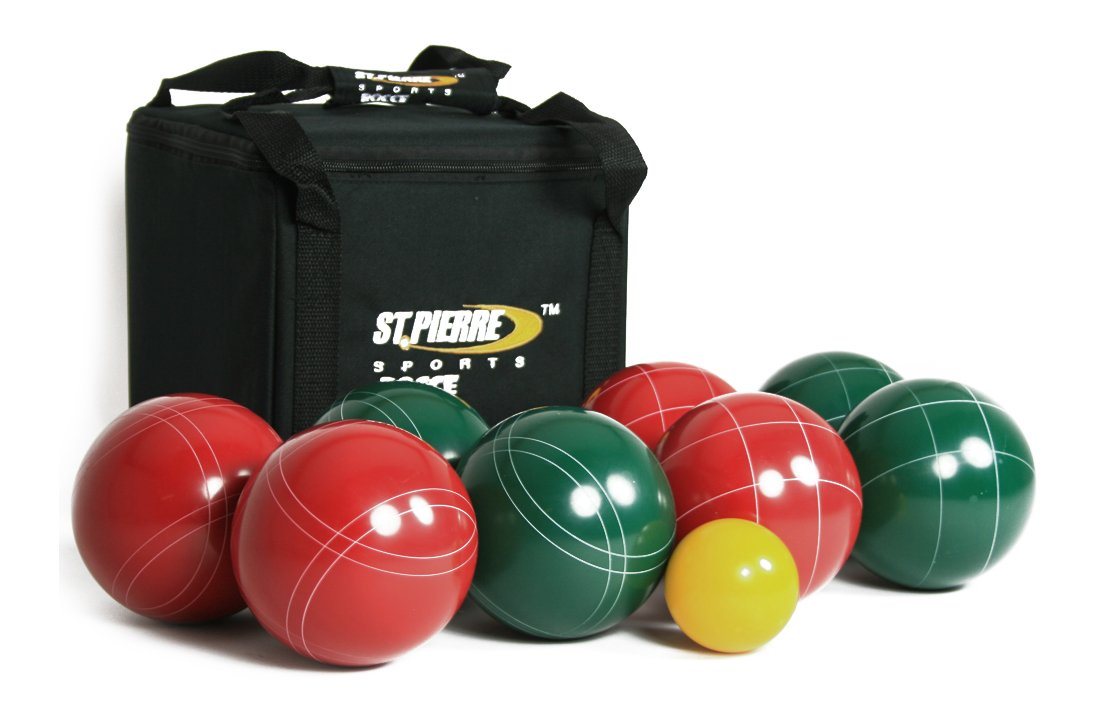 St Pierre Sports Professional Bocce Set, Green/Maroon, 107mm by St Pierre Sports