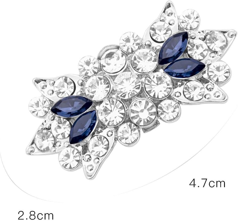 Duosheng /& Elegant GM Sparkly Diamante Crystal Decorative Shoe Clips Rhinestones Bow Wedding Party Prom Shoe Decorations Clips