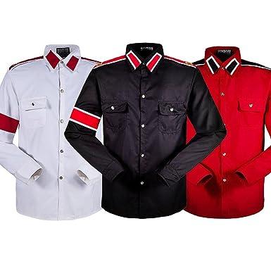 11b7af1b92c949 in Memory Michael Jackson MJ Black Retro CTE Anti-war Cotton Shirt  Stitchwork Sark Collection
