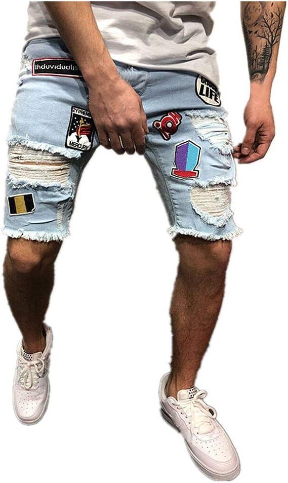 Pantalones Cortos Hombre Cortos De Mezclilla De AlgodóN ...