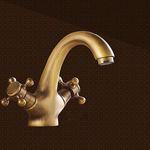 AWXJX wasserhahn wasserhahn wasserhahn Kupfer Europäischen Stil Retro Stil Badezimmer Waschbecken Sitzen Heiße und kalte Zeichnung daa580