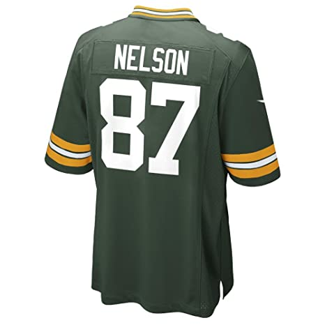 c001bbaf NIKE Jordy Nelson Green Bay Packers Youth Green Team Color Game Jersey