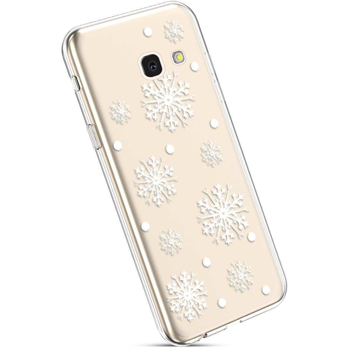 YSIMEE Custodia Samsung Galaxy J4 Plus, Xmas Decorazioni Natalizie Custodie Gel Trasparente Silicone Morbida Ultra Sottile Chiaro TPU Antiurto Gomma Cover per Samsung J4 Plus -Luce