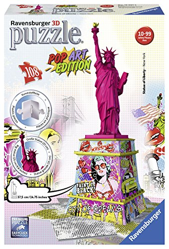 R.C. 3D STATUE OF LIBERTY POP ART EDITION / ESTATUA DE LA LIBERTAD 108 PZAS.