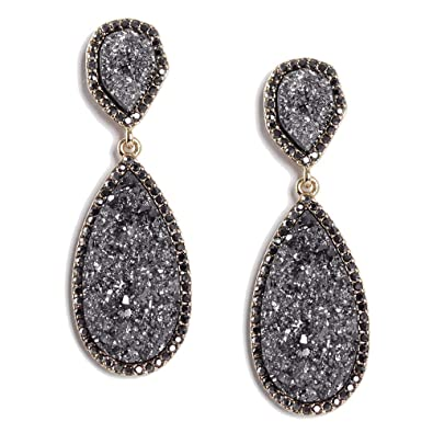 4eb66981913af Darget Faux Druzy Earrings Colored Drop Earrings Statement Stud Shimmery  Glass Earing Girls and Women