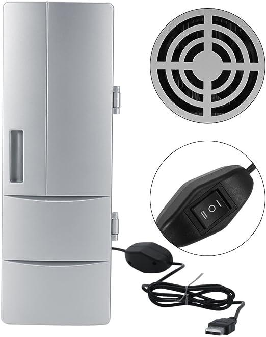 Mini USB Fridge Freezer Refrigerator Can Portable Drink Cooler Warmer For Travel