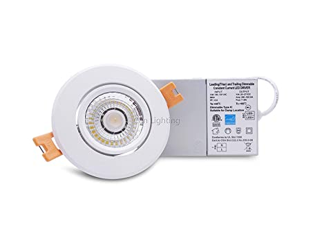 3 inch recessed light pot light gimbal dimmable type ic 7w