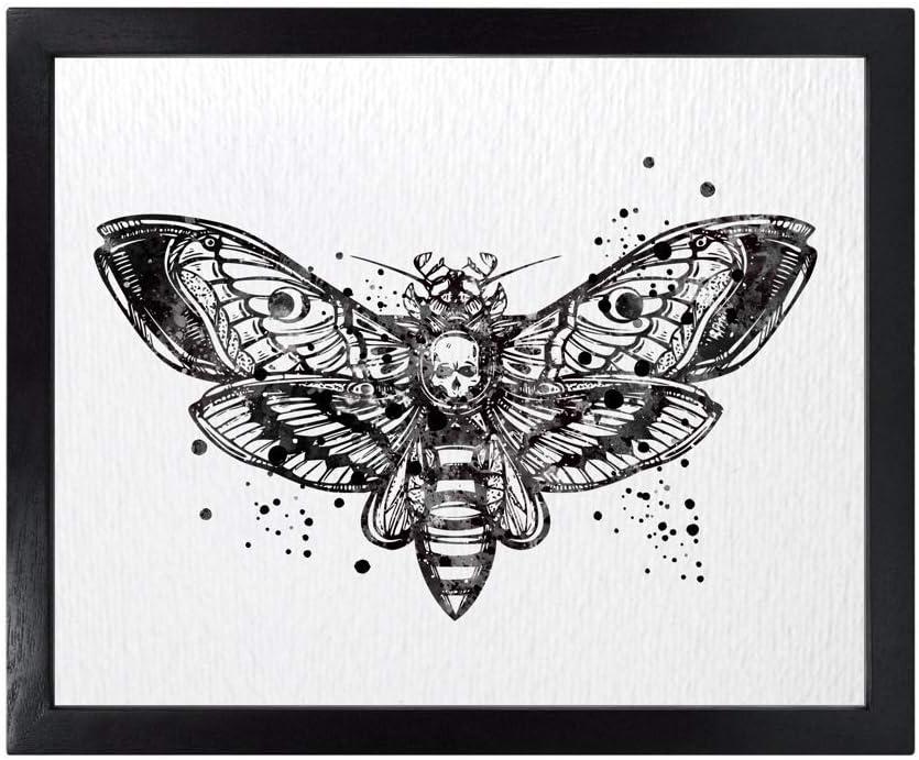 Dignovel Studios 8X10 Unframed Death Head Hawk Moth Insect Totem Animal Science Watercolor Art Print Poster Wall Art Nursery Kids Office Home Decor DN594