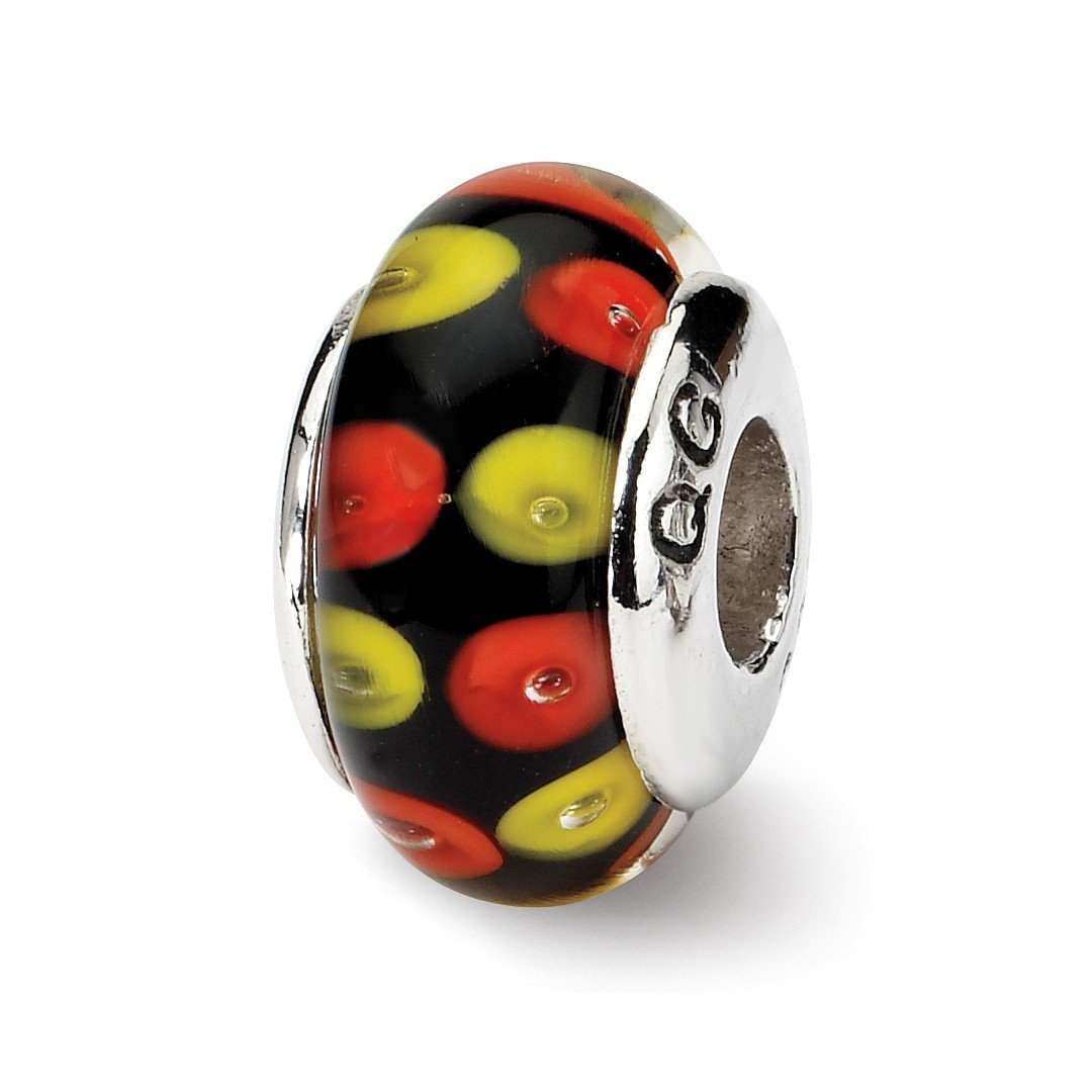 ICE CARATS 925 Sterling Silver Charm For Bracelet Red/black Hand Blown Glass Bead Glas H Fine Jewelry Ideal Gifts For Women Gift Set From Heart