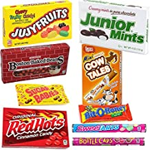 Retro Nostalgic Chocolate and Variety Candy Mix in a Gift Box