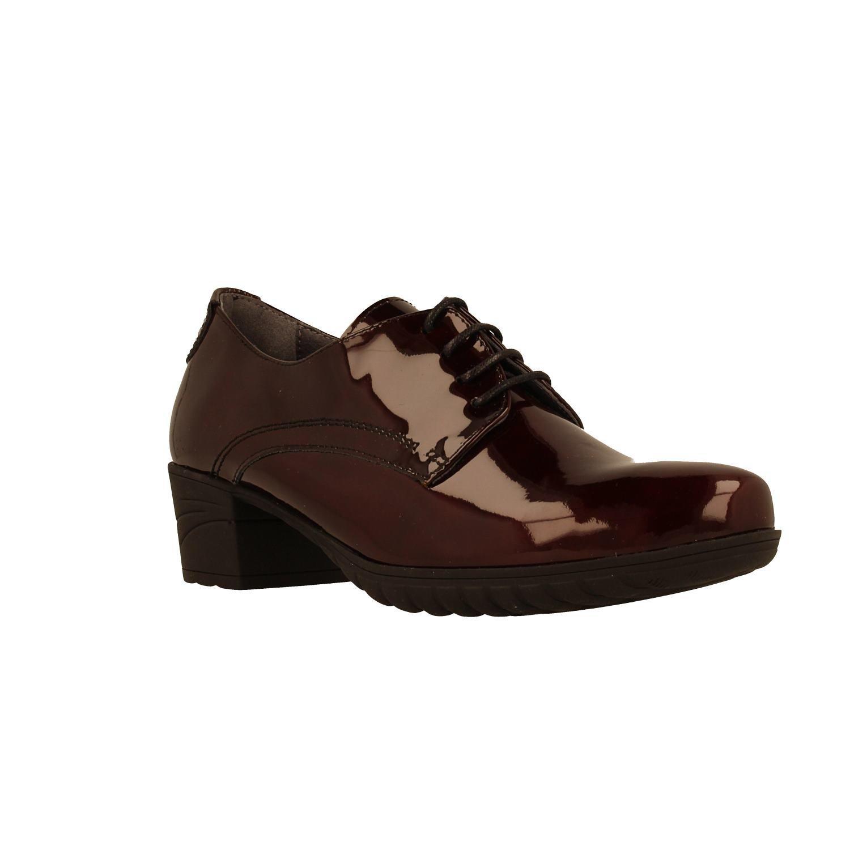Zapato FLUCHOS 9807 Gloss Burdeos 36 EU|Rojo