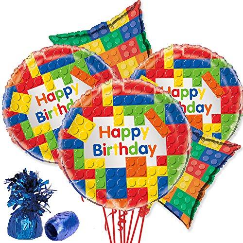 Costume SuperCenter Building Blocks Balloon Bouquet Kit (5 Balloons)]()