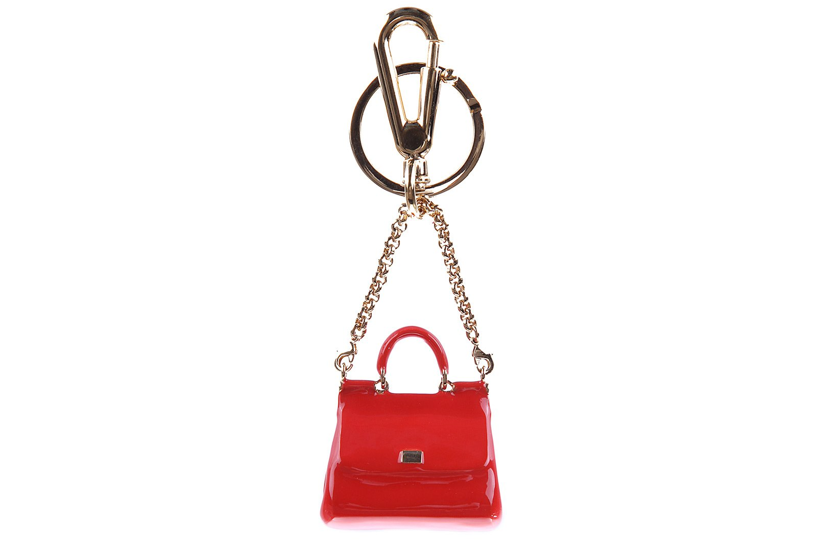 Dolce&Gabbana women's steel keychain key holder red