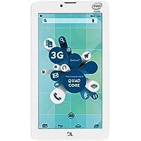 """""""Tablet DL SocialPhone com Função Celular, Tela 7, Intel Atom X3, 8GB, 1GB RAM, Android 5, Wi-Fi + 3G, Câmera frontal, Bluetooth e Branco - TX316BRA"""""""