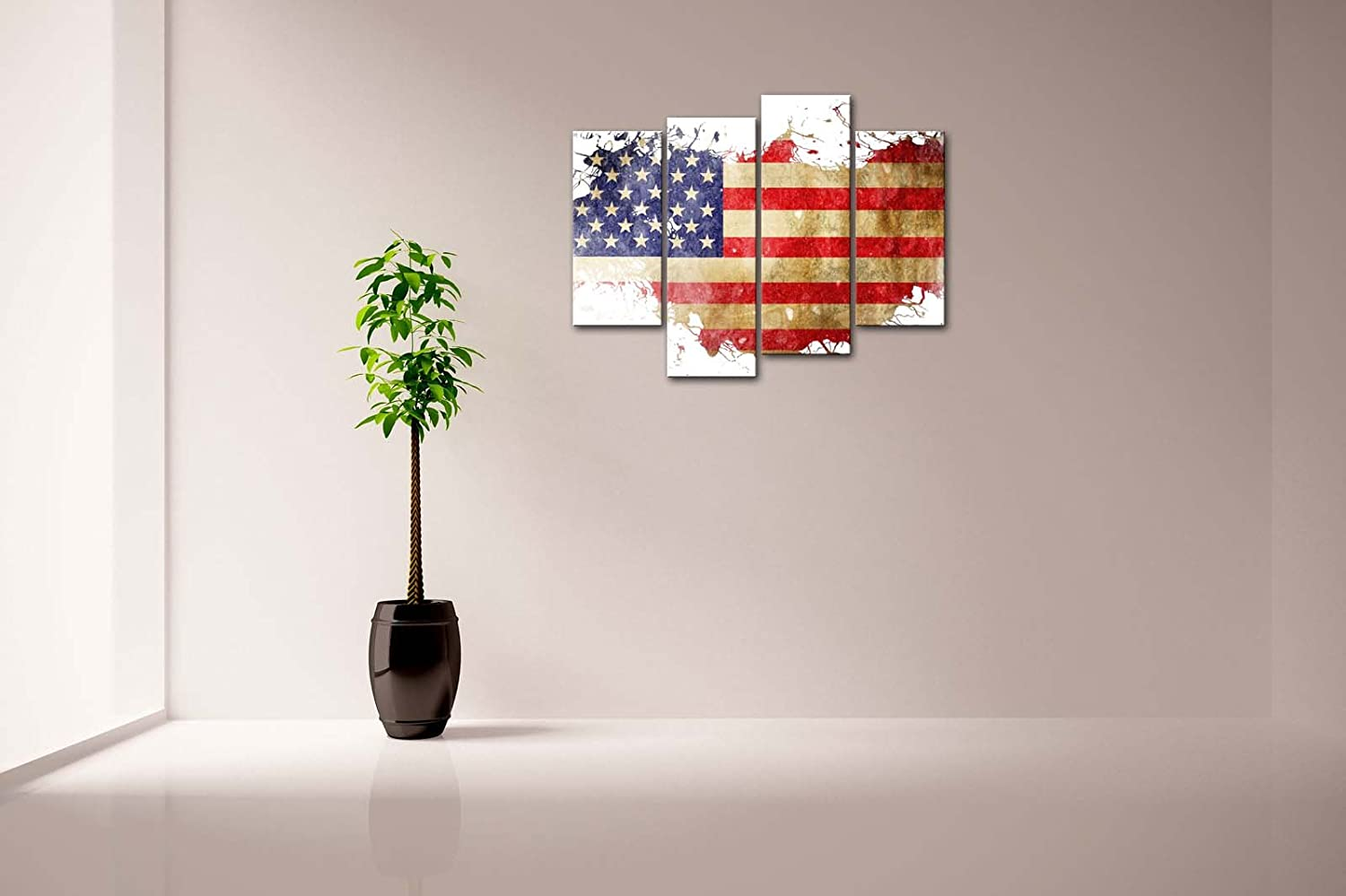 amazon com american flag in its country u0027s outline wall art