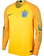 a61f2eb94 Nike 2018-2019 England Home Goalkeeper Football Soccer T-Shirt (Yellow)