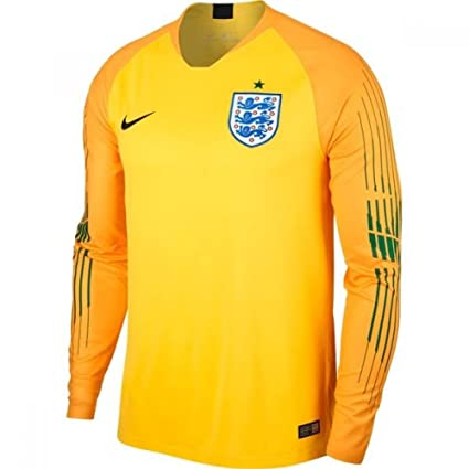 Amazon.com   Nike 2018-2019 England Home Goalkeeper Football Soccer ... 59cfb1710