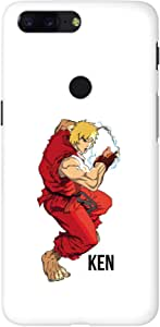 Stylizedd OnePlus 5T Slim Snap Basic Case Cover Matte Finish - Street Fighter - Ken (White)