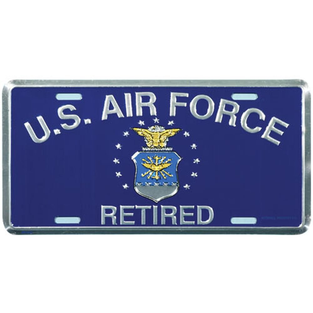 Honor Country US Air Force Retired License Plate Mitchell Proffitt
