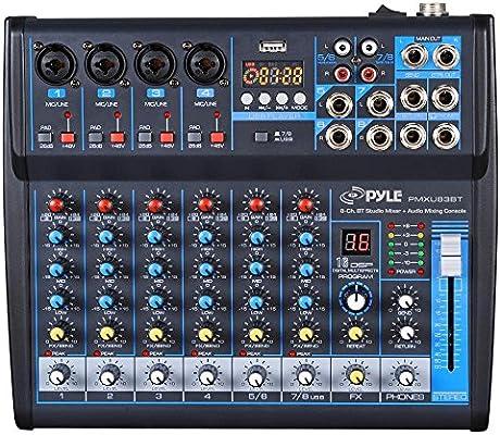 Amazon.com: Professional Audio Mixer Sound Board Console ...