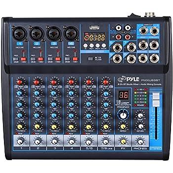 professional audio mixer sound board console desk system interface 8 channel digital. Black Bedroom Furniture Sets. Home Design Ideas