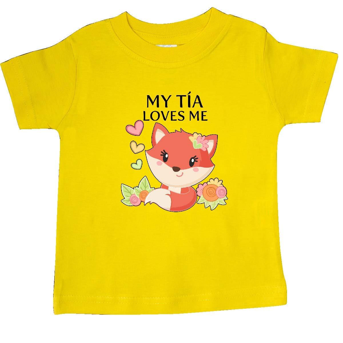Little Fox Baby T-Shirt inktastic My T/ía Loves Me