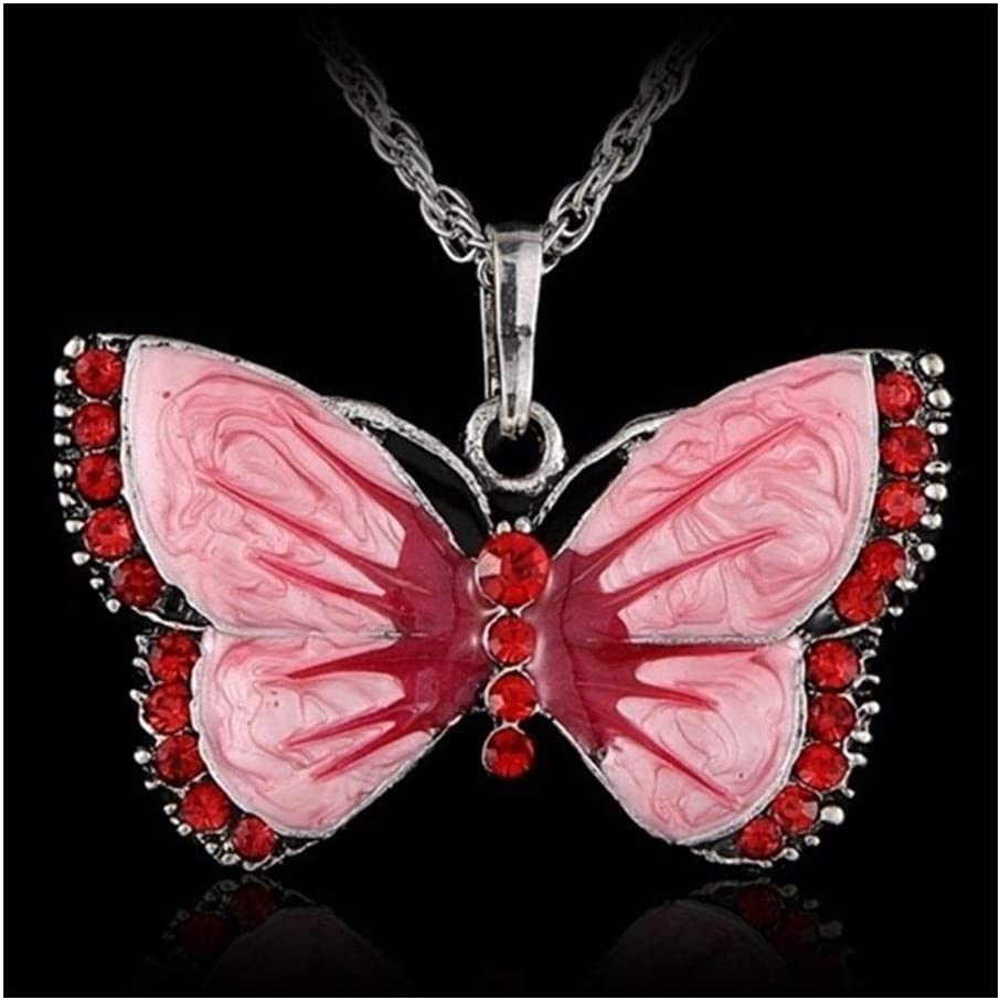chenran Accesorios Collar Animal joyería Pendiente de la Mariposa de la Vendimia for Las Mujeres Muchacha del Traje del Vestido de la Ropa Regalo (Metal Color : Red)
