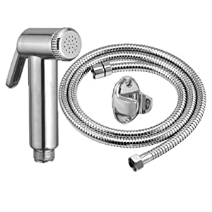 Jaq Jet Health Faucet With 1.5 Meter S.S Tube And Wall Hook,Taflon,Screw (Pack of 1)