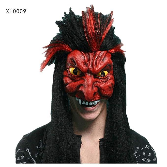 Máscara YN Halloween mueca Media Cara Adulto Cara Completa látex tocados Miedo Hombre Lobo Matar a Dios Demonio (Color : X10008): Amazon.es: Hogar