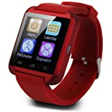 Padgene Bluetooth Smart Watch Bracelet for Samsung, Nexus, Htc, Sony and Other Android Smartphones, Red