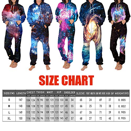 De Zip Noir Violet Nuit Longues Pyjama Morbuy Capuche À Costume Vêtement Jumpsuit Pièce Manche Adult Une Imprimé 3d Sweatshirt Homme Sweat Onesie Family HOU1q