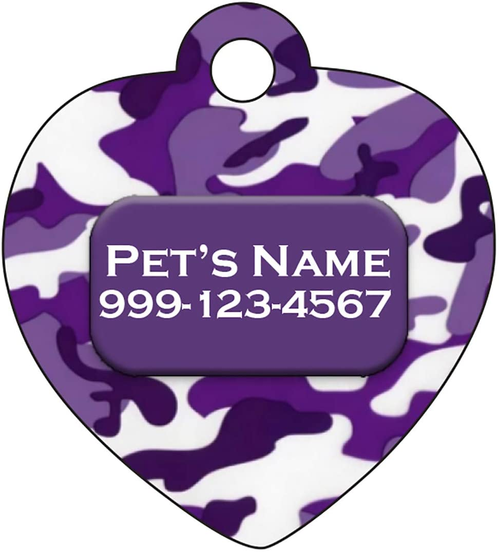 uDesignUSA Camo 2-Sided Pet Id Tag for Dogs /& Cats Personalized for Your Pet