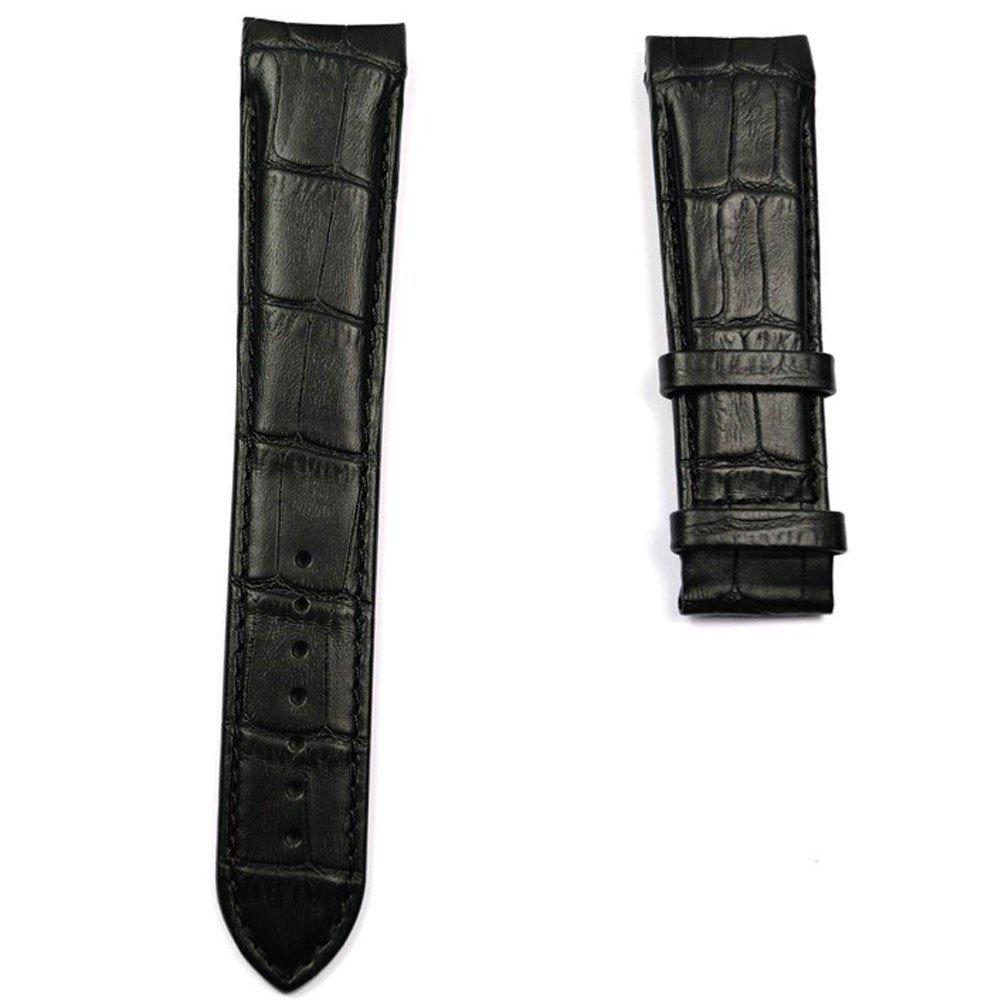 Black leather strap XL size Tissot Couturier quartz chronograph T610028583 by Tissot Watch Strap