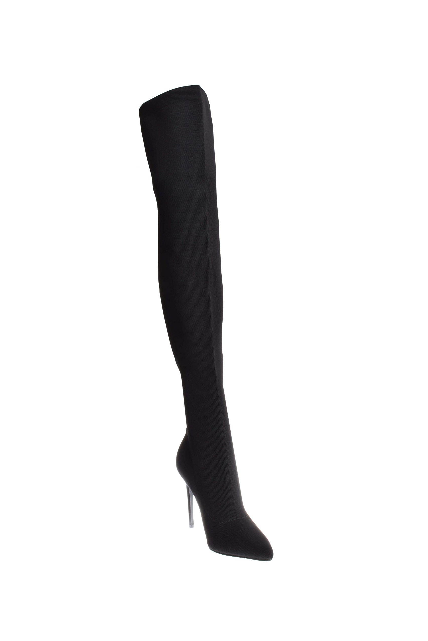 KENDALL + KYLIE Women's Anabel II Thigh High Stretch Boots, Black, 9.5 B(M) US