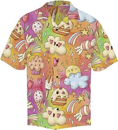 InterestPrint Cute Different Turtles Button Down Regular Fit Short Sleeve Shirts for Men
