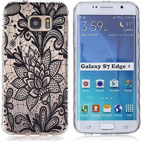 S7 Edge Case / Galaxy S7 Edge Case,DIOS CASE(TM) Wavy Texture Antiship Design Translucent Ultra Slim fit Flexible Thin Soft TPU Rubber Protective Sales