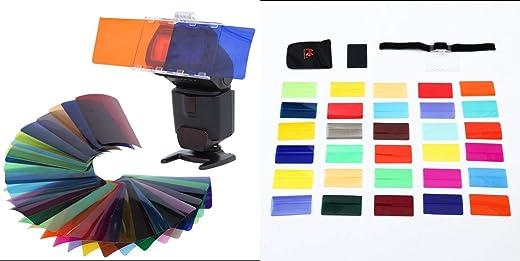 مجموعة جل Strobist العالمية CFA-30K لفلاش Speedlite 30 لونًا مع بارباب وحقيبة تخزين
