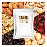 Daily Nuts & Fruits Mixed Nuts 1 LB (Roasted Almonds, Roasted Cashews, Macadamias, Walnuts, Cranberries, Raisins) No Artificials, Unsalted, Natural, Premium Nuts (1 LB)