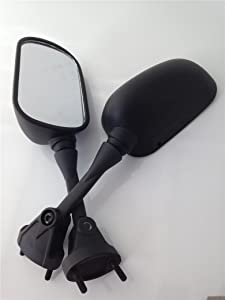HTTMT MT061- Black OEM Aftermarket Side Racing Mirrors Compatible with Kawasaki Ninja 2005-2008 ZX-6R 636 ZX6RR /2004-2008 Kawasaki ZX-10R