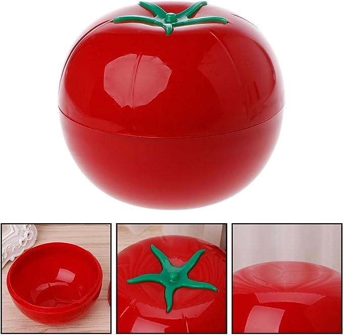 guoyy Tomate de retter de escritorio creativos de recipientes rojos de mantener alimentos frescos Dep/ósito