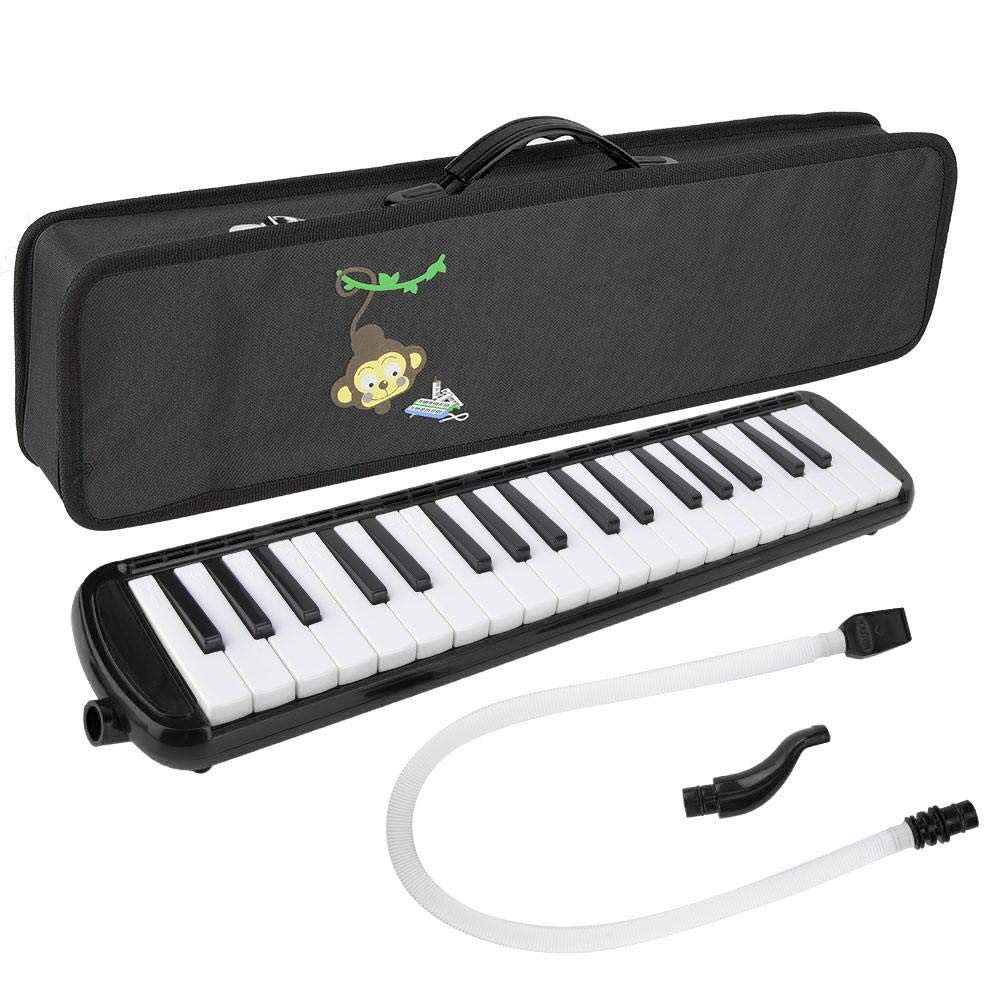 Bnineteenteam 37 Piano Keys Melodica Long Tube Plastic Melodica Tube with Storage Bag Blowpipe Mouthpiece for Beginners (Black) by Bnineteenteam