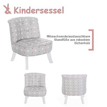 Kindersessel grau  Somebunny 4055168104097 Kindersessel im exklusiven Herzen Design ...
