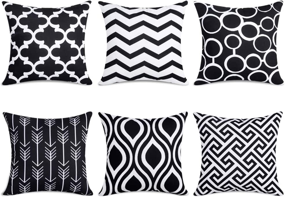 Black Cotton Pillow Cases 50cm x