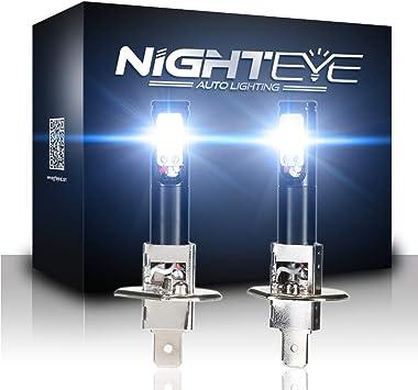 NIGHTEYE H3 LED Fog Light Bulbs Replace Lamp Cool White 160W 1600LM Warranty