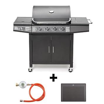 Taino® TÜV – Barbacoa de gas 4 + 1, incluye accesorios Campana plancha manorreductor