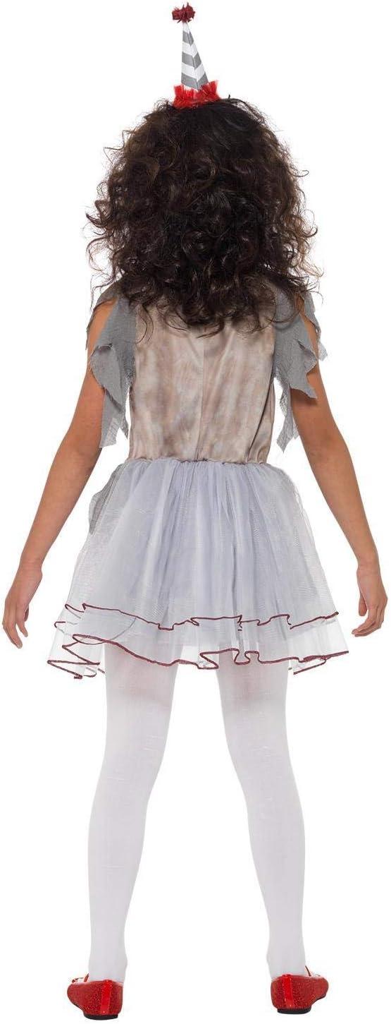 Smiffys Clown Girl Costume Disfraz de payaso vintage, color gris y ...